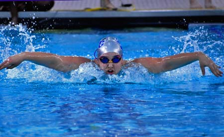GCC swimmer competes at the butterfly
