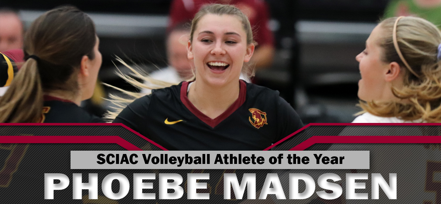 Phoebe Madsen Repeats as SCIAC Volleyball Athlete of the Year, Three Other Athenas Named All-SCIAC