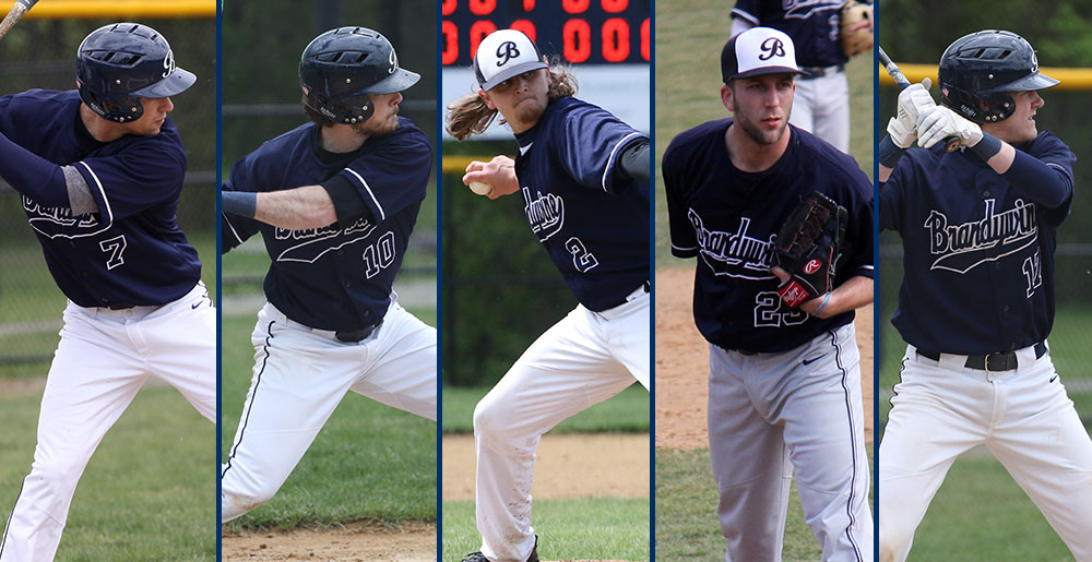All-PSUAC baseball players