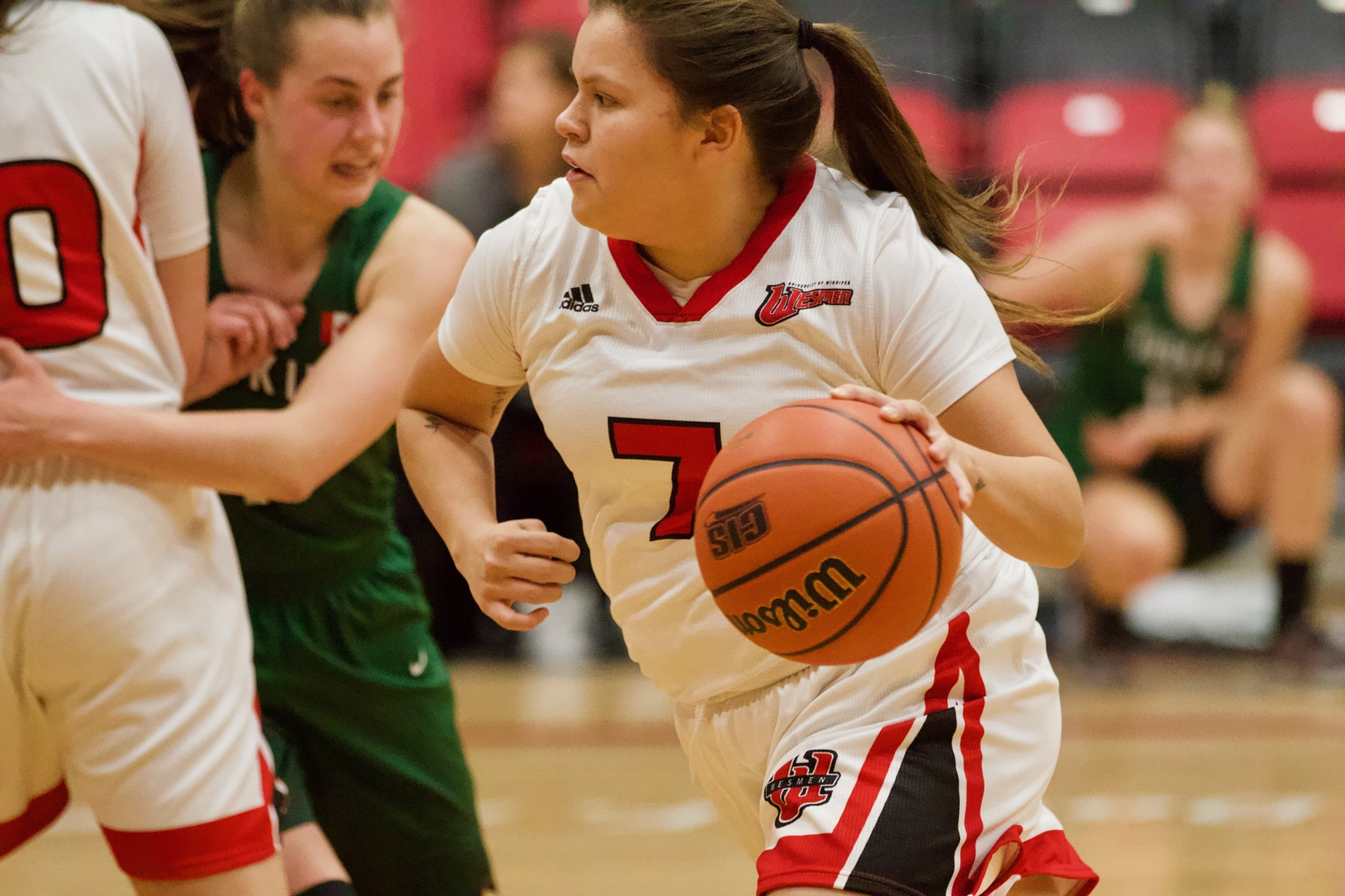 Robyn Boulanger had 12 points off the bench in the Winnipeg Wesmen's loss to the Lethbridge Pronghorns on Saturday, Nov. 24, 2018. (David Larkins/Wesmen Athletics file)