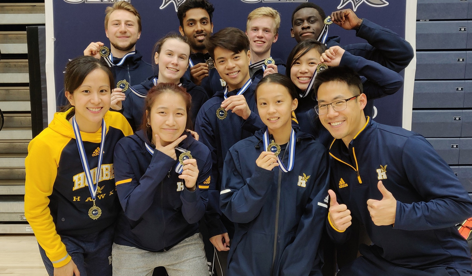 HAWKS BADMINTON ROLL TO VICTORY IN TEAM BADMINTON EVENT AT UTM