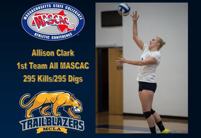 Clark named first team All MASCAC selection for second straight season