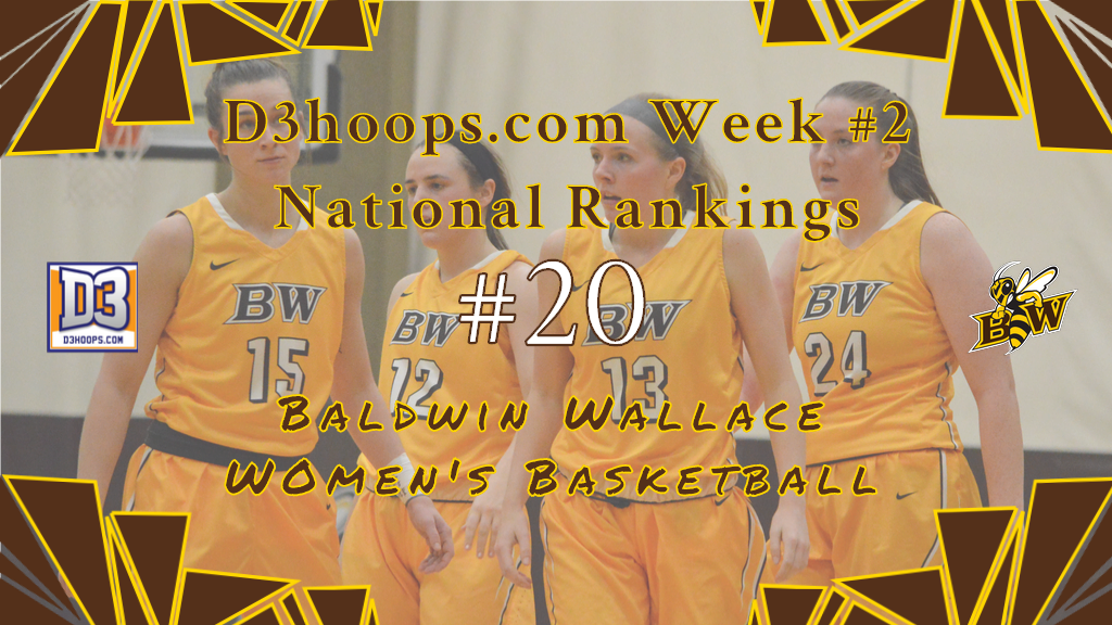 Women's Basketball Climbs to No. 20 in Week 2 National Rankings