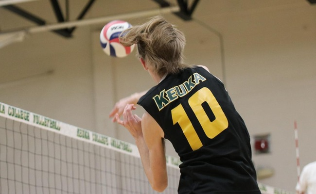 Jared Kucko (10) had a team-high 15 kills and 11 digs for Keuka College on Wednesday