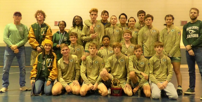 Gator Grapplers Claim Second Place in Blue Line Duals