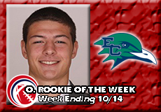 Shea McManaway-Endicott, CCC Football: Offensive Rookie of the Week
