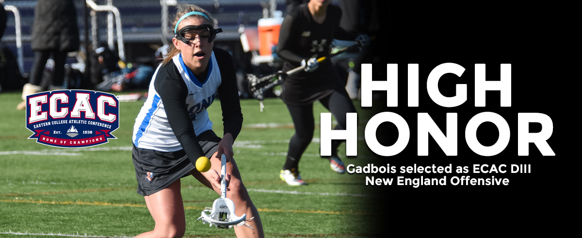 Gadbois Named ECAC DIII New England Offensive Player of the Week