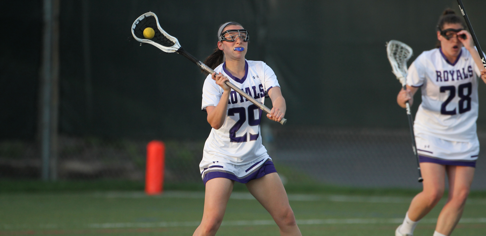 Senior Elena Gallo scored two goals in each half, tallying four on the day in Scranton's 13-5 win at Kean on Saturday.