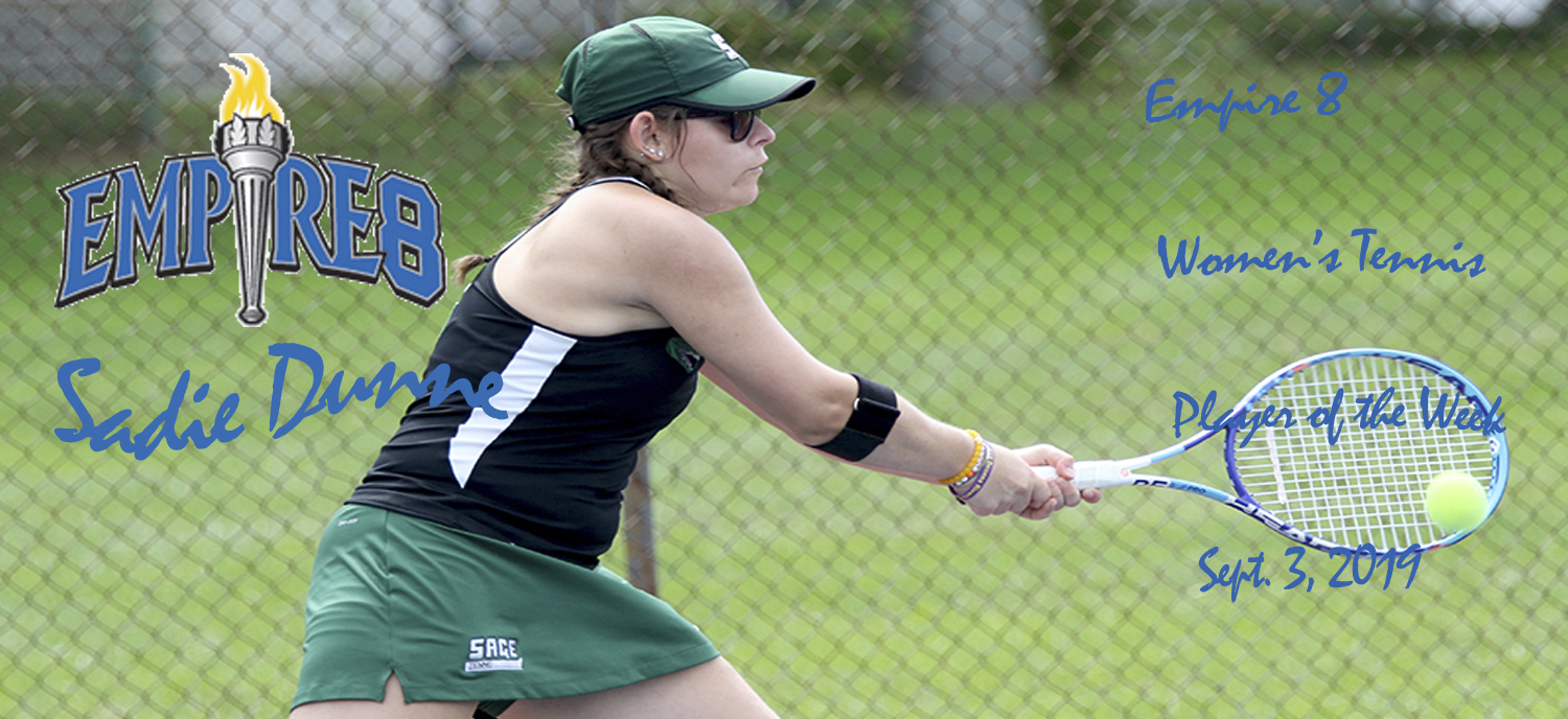 Sadie Dunne tapped as Empire 8 Women's Tennis Player of the Week
