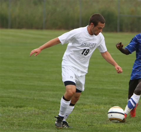 Sage booters fall at SJC, 2-0 in men's action