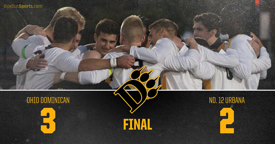 Late Header Earns I-70 Cup, 3-2 Win For Men's Soccer Over No. 12 Urbana