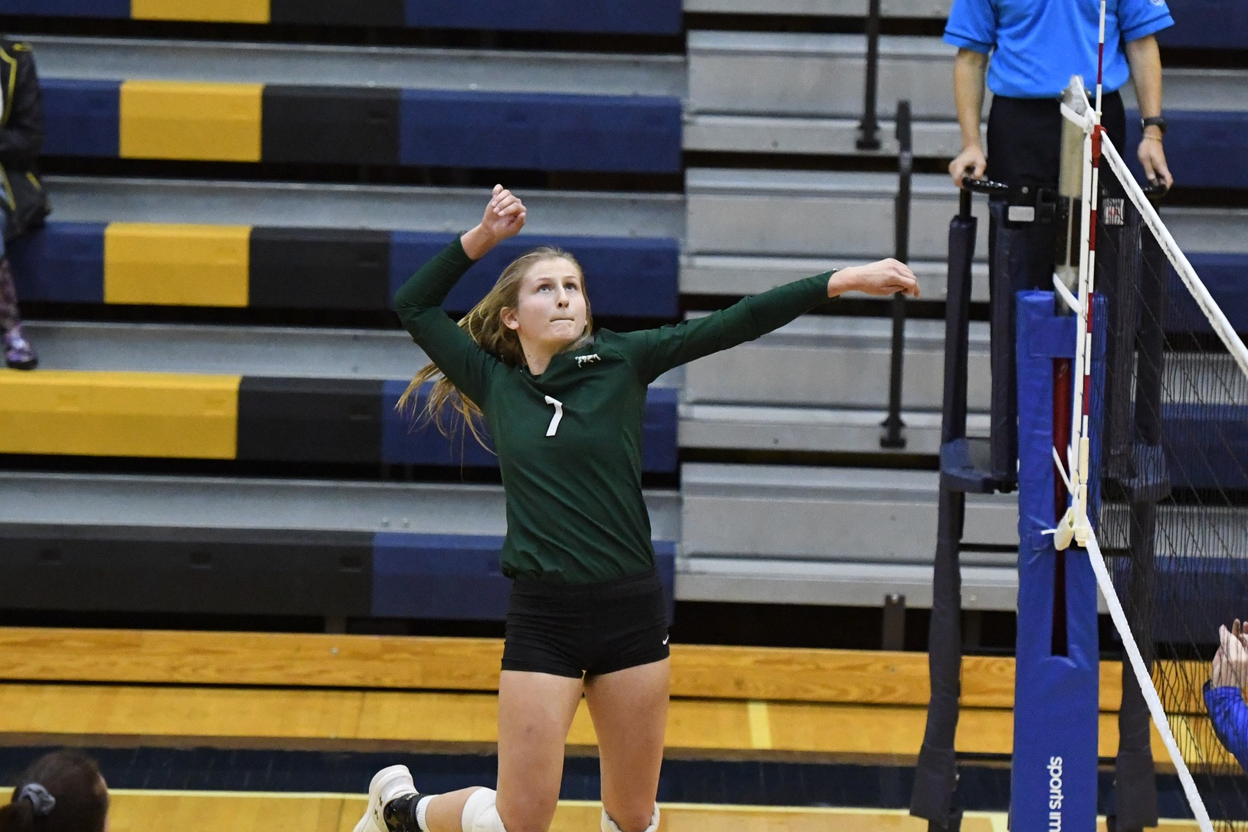 Volleyball Finish Action at Spartans' Invitational with Split