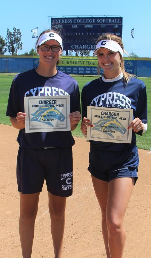 Hoffman & McCollum Earn Co-Charger of the Week