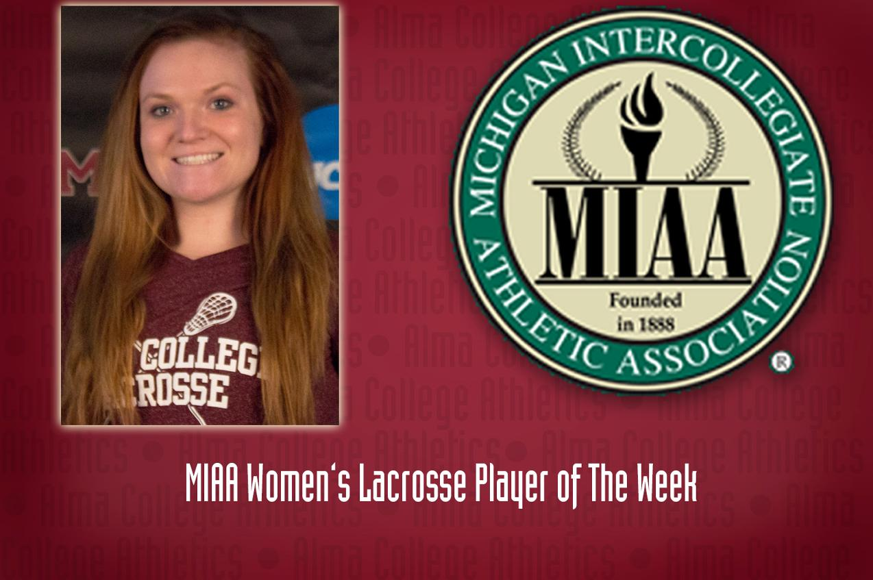 Gallihugh named MIAA Defensive Player of The Week for Women's Lacrosse