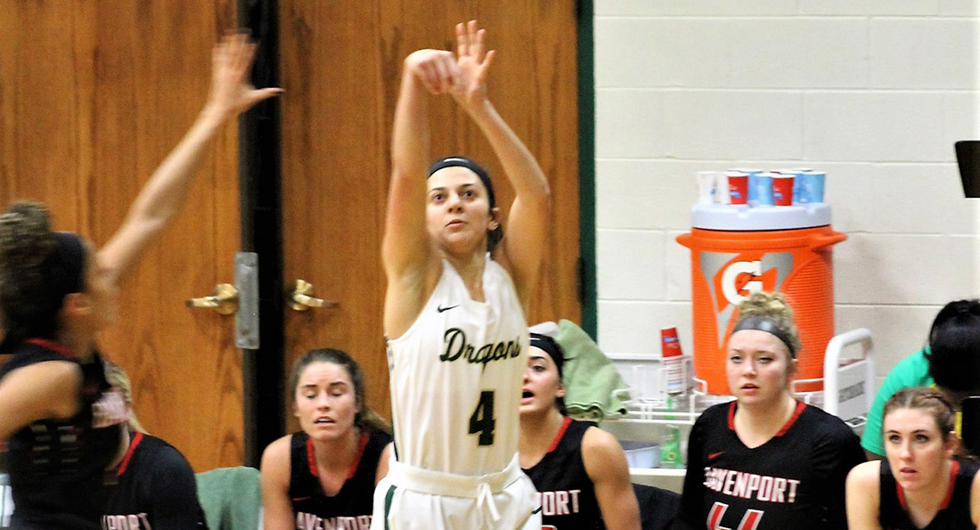 Tiffin freshman, Annie Santucci, scored a game high 16 points for the Dragons.