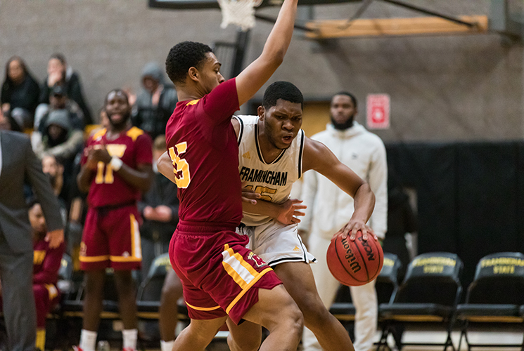 Second Half Comeback Falls Short as Men's Basketball Falls to Bridgewater State in Overtime