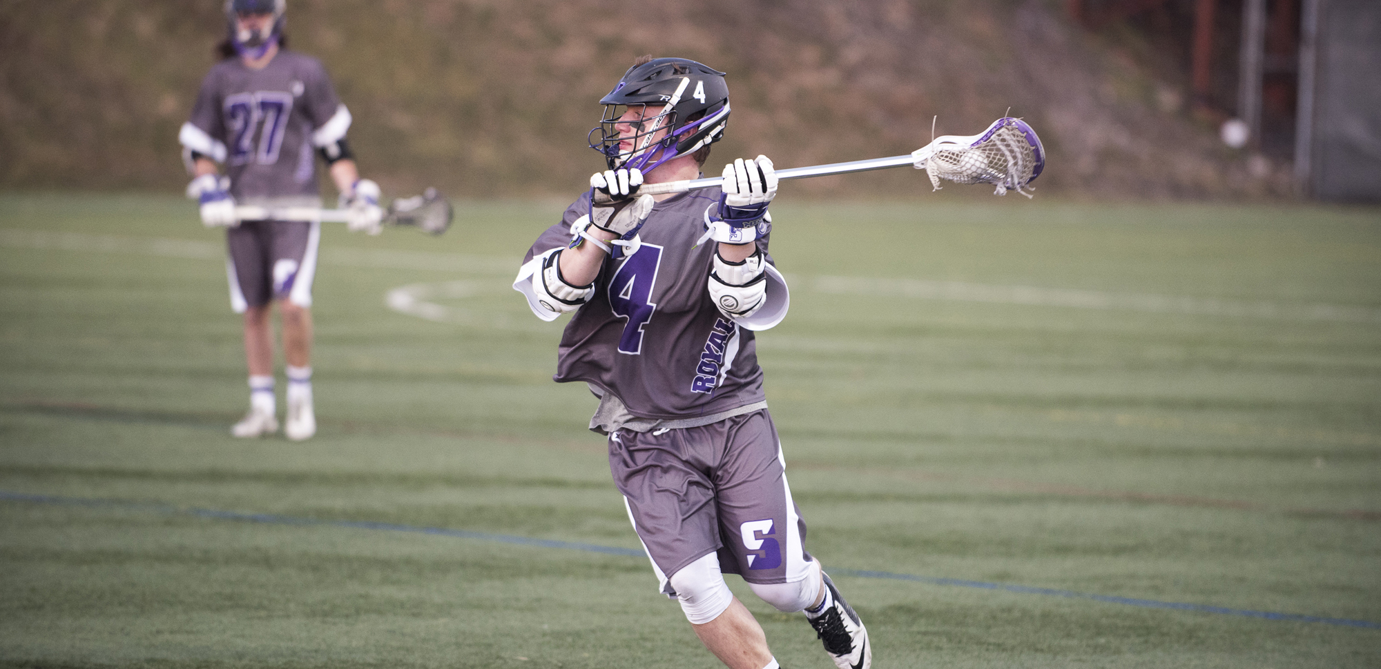 Junior attackman Matt Carfaro leads the Royals with 28 points despite missing six games this season.