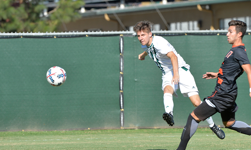 BEDIG'S LATE GOALS LIFT MEN'S SOCCER TO 4-3 WIN OVER NIU