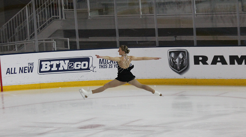 Figure Skating Ranked No. 1 in the Midwest After First Place Performance Maize and Blue Event