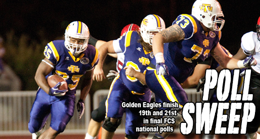 Golden Eagles rank 19th and 21st in final two FCS national polls