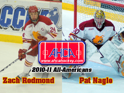 Zach Redmond and Pat Nagle Receive AHCA All-America Distinction