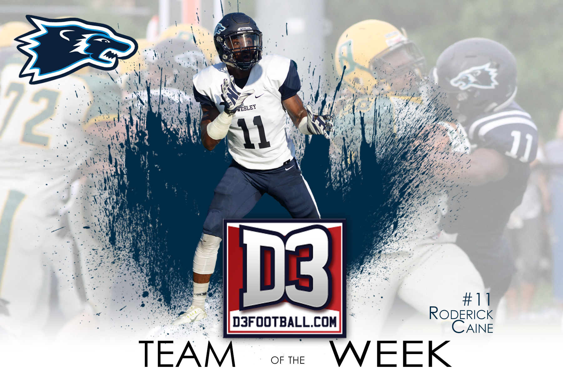 Caine Named to D3football.com Team of the Week
