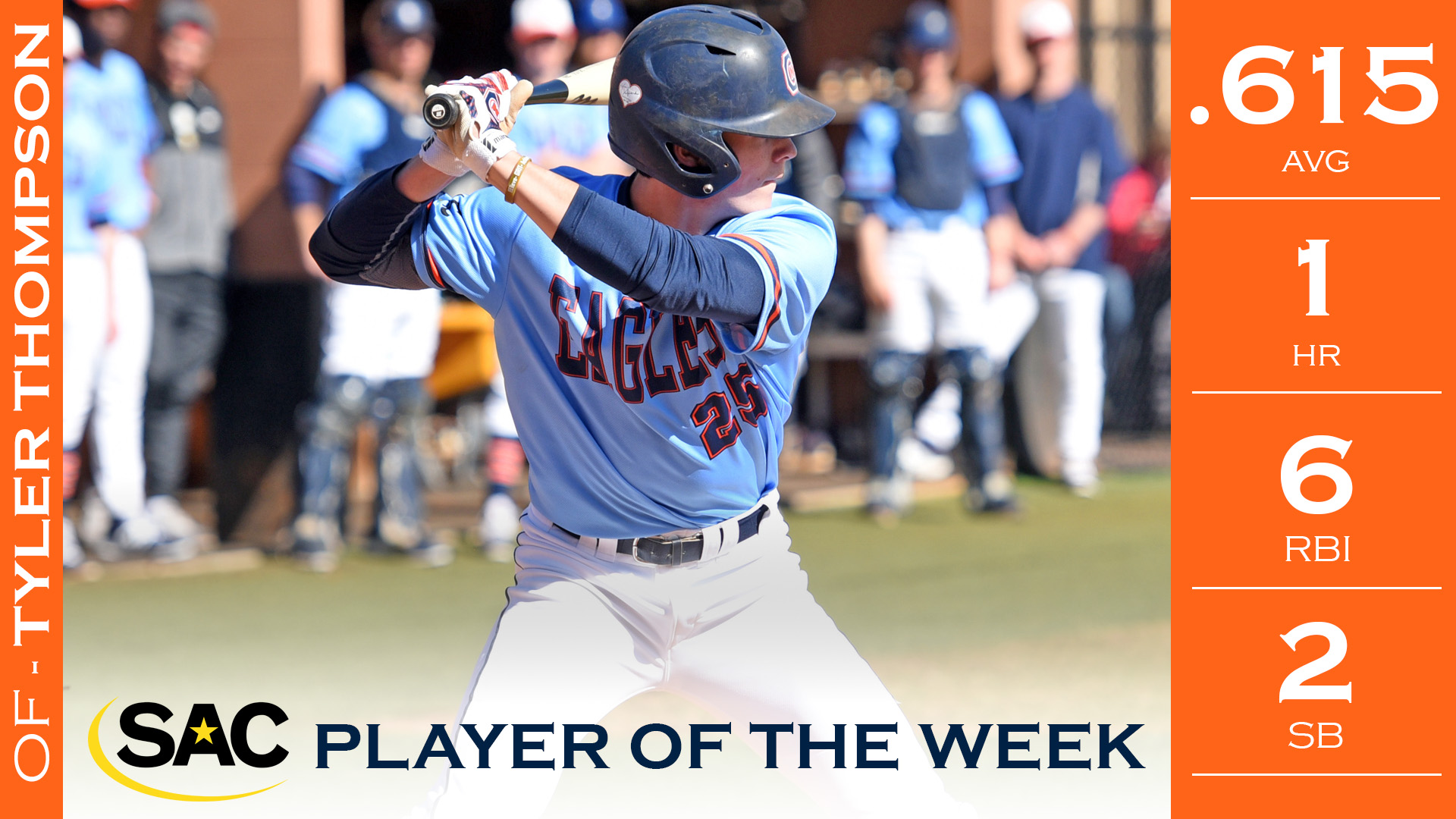 Thompson tallies first-career SAC Player of the Week