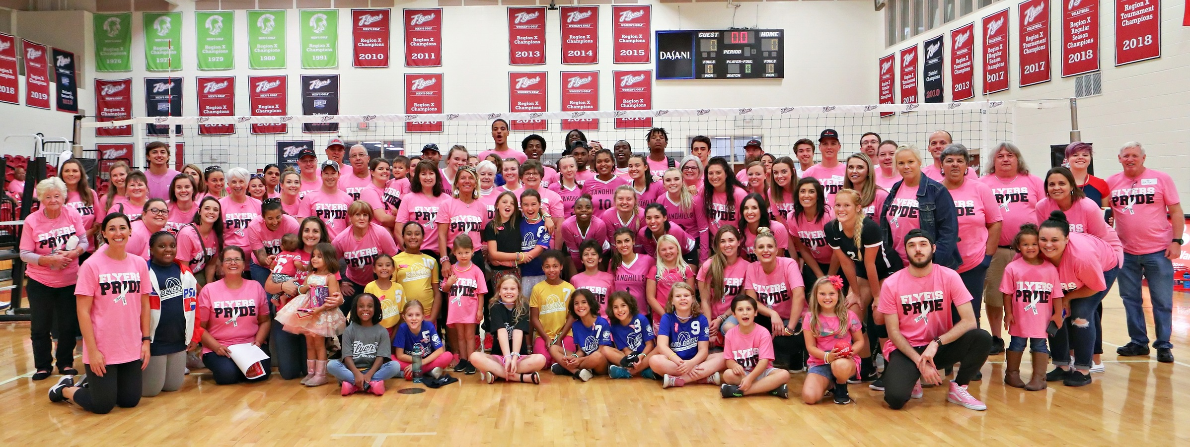 Lady Flyers Remain Undefeated in Region X With Pink Out Night Win