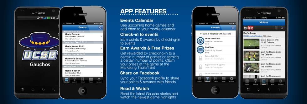 UCSB Athletics Unveils Gaucho Mobile App