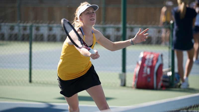 WOMEN'S TENNIS EDGED BY SAN DIEGO STATE, 4-3