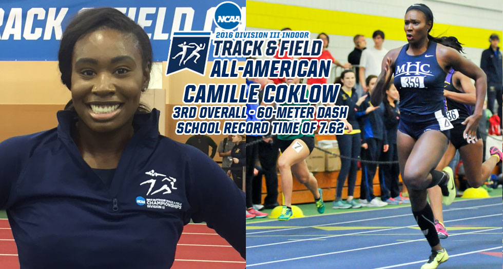 Coklow Earns National All-America; Finishes 3rd in 60-Meter Dash