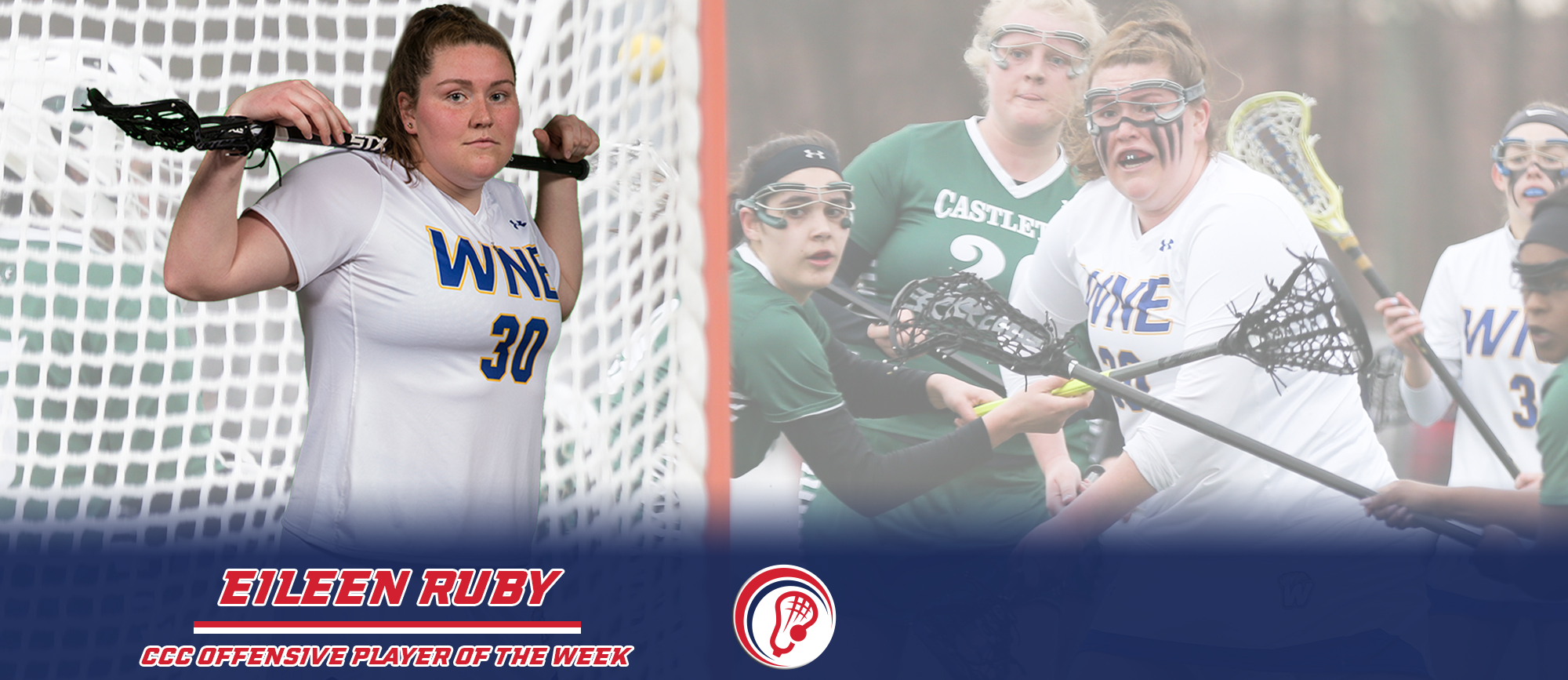 Eileen Ruby Recognized with Second Career CCC Offensive Player of the Week Award