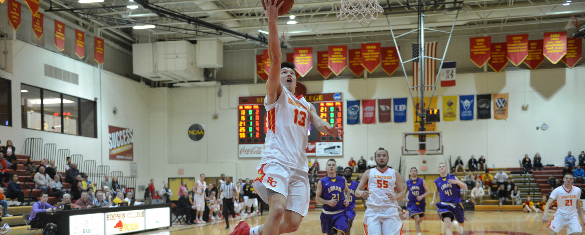 Ben Rajewski scored 11 points off the bench in the Storm's 101-95 win over Loras on Jan. 25.