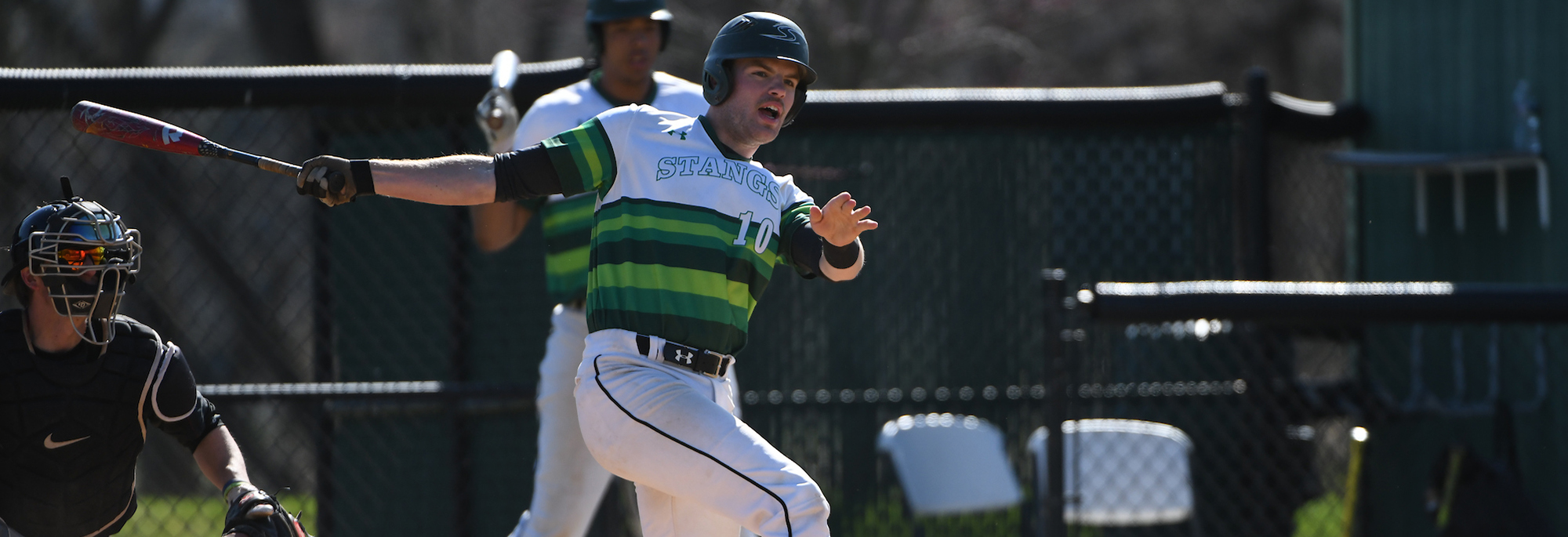Mustangs Use 12-Run Eight To Ride Past Marymount In Season Finale