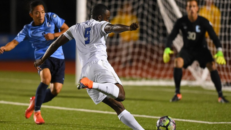 Men's Soccer Drops 2-0 Home Decision to Columbia on Friday Night
