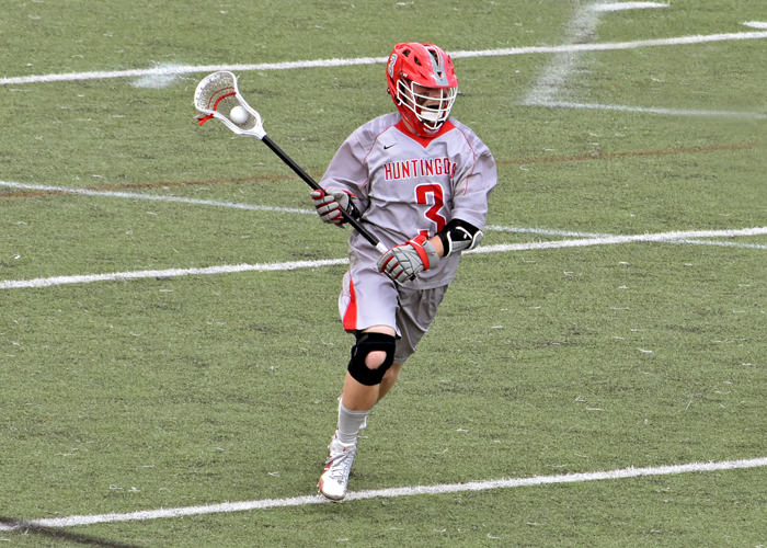 Miles Stading scored three goals in Wednesday's 15-9 win over Randolph College.