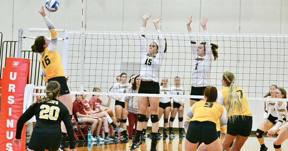Volleyball Splits Homecoming Slate