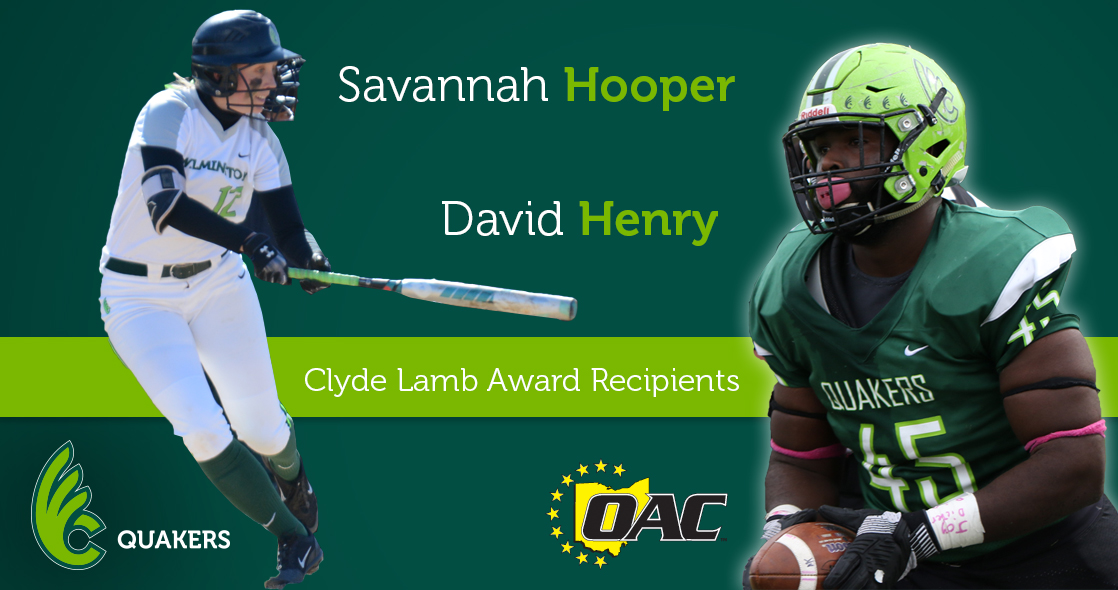 Hooper and Henry Accept Clyde Lamb Awards