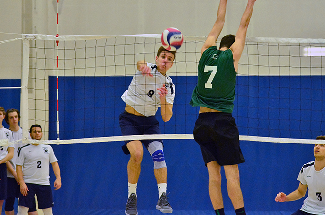 Men's Volleyball Splits in Quad Match