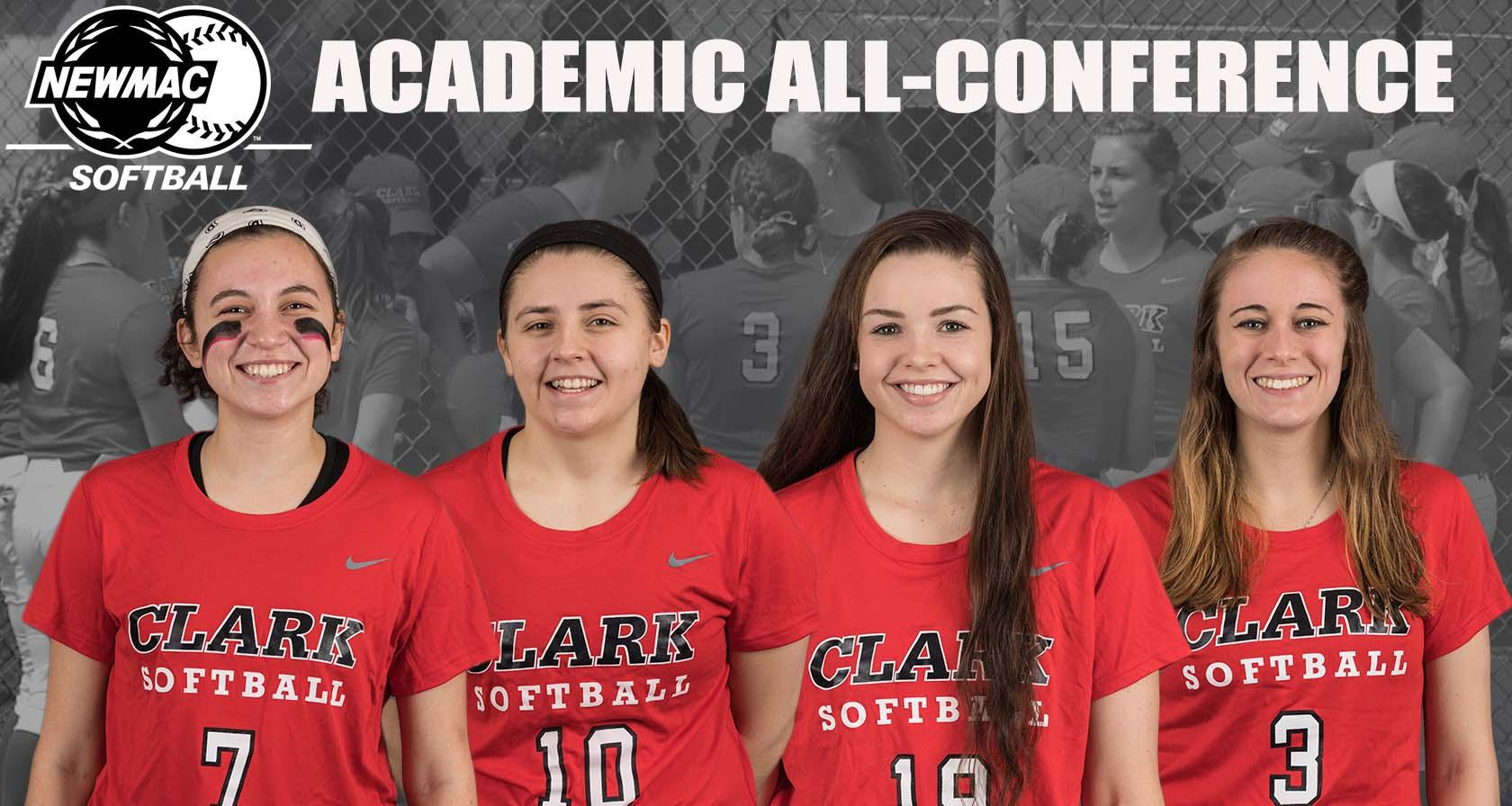 Softball Places Four on NEWMAC Academic All-Conference Team