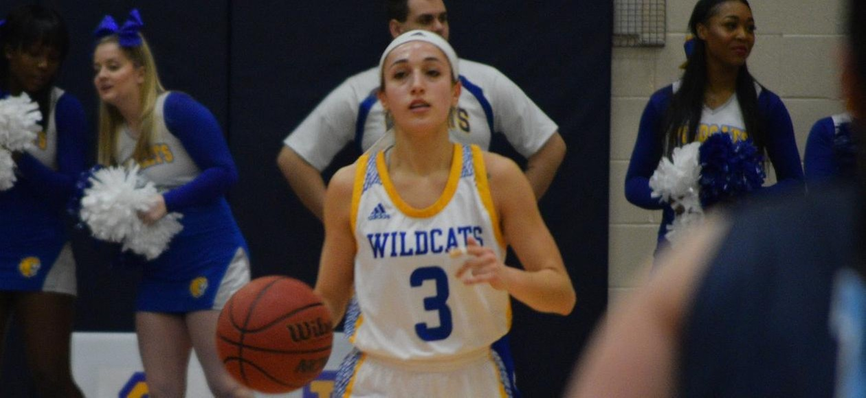 Pederzani Sets Assists Record in 63-44 Win Over Simmons