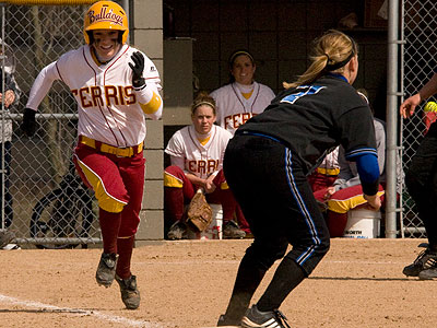 FSU played its longest game of the season against GVSU in the nightcap (Photo by Eric Carlson)