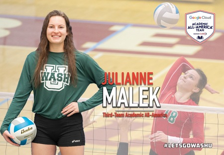 Julianne Malek of Washington University Selected to Google Cloud Academic All-America Third Team