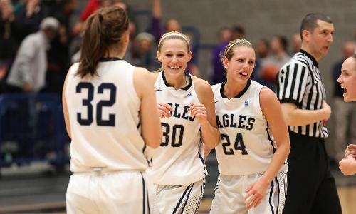Eagles Soar to Senior Day Victory, 74-36, Over Wesley