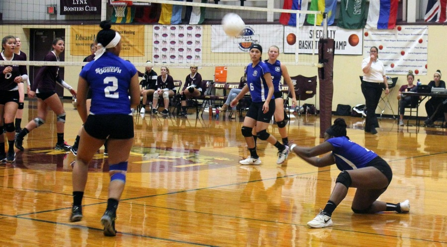 CSJ Lady Saints volleyball fall to Paul Smith's College
