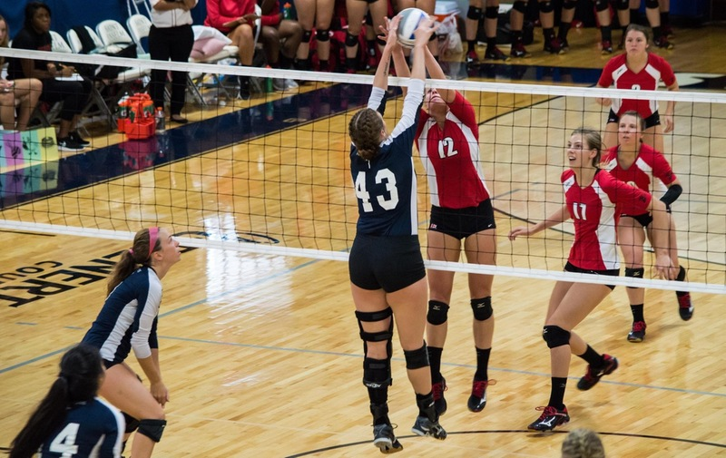 Women's Volleyball Tops Dominican Chargers