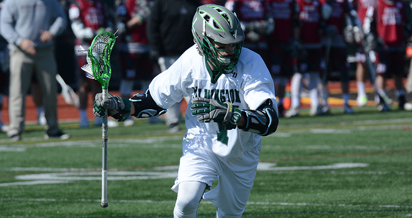 Senior Reid Delaney, puts in 100th and 101st career goals against Baldwin Wallace.