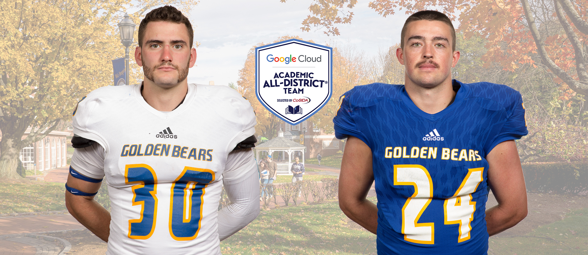 Anastasi & Schenck Earn CoSIDA Academic All-District Honors