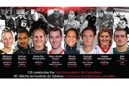 Top 8 Academic All-Canadians: CIS announces 2011-2012 recipients