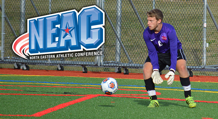 Owen May Named NEAC Defensive Player of the Week